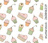 sweets seamless pattern | Shutterstock .eps vector #260846219