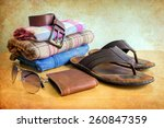 still life with casual man on... | Shutterstock . vector #260847359