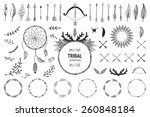 hand drawn tribal collection... | Shutterstock .eps vector #260848184