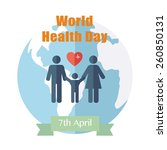 world health day. concept with... | Shutterstock .eps vector #260850131