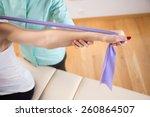 close up of patient doing... | Shutterstock . vector #260864507