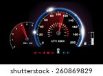 abstract car speedometer... | Shutterstock .eps vector #260869829