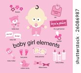 Baby Girl Elements Set