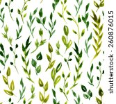vector watercolor floral... | Shutterstock .eps vector #260876015