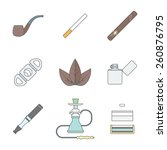 vector color outline various... | Shutterstock .eps vector #260876795