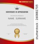 vector certificate template. | Shutterstock .eps vector #260882705
