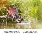 summertime  portrait of an... | Shutterstock . vector #260886431