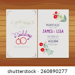 wedding invitation florals | Shutterstock .eps vector #260890277