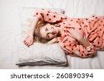 morning beautiful girl woke up... | Shutterstock . vector #260890394