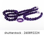 Purple Glass Bead Jewelry