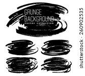 set of grunge marker stains | Shutterstock .eps vector #260902535
