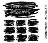set of grunge marker stains | Shutterstock .eps vector #260902571