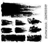 set of black ink vector stains | Shutterstock .eps vector #260903549