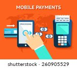 mobile payments and near field... | Shutterstock . vector #260905529