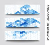 set of banner templates with... | Shutterstock . vector #260909039