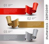 vector ribbons set. design... | Shutterstock .eps vector #260910449