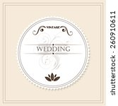 vintage wedding invitation  | Shutterstock .eps vector #260910611