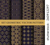 luxury vector patterns pack | Shutterstock .eps vector #260912297
