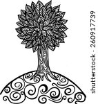 sketched tree | Shutterstock .eps vector #260917739