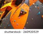 artificial climbing wall in an... | Shutterstock . vector #260920529