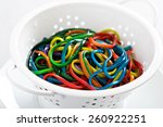 Rainbow Colored Spaghetti In A...