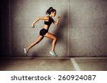 slim attractive sportswoman... | Shutterstock . vector #260924087