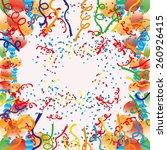 vector background. confetti   Shutterstock .eps vector #260926415