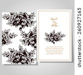 wedding invitation cards with... | Shutterstock .eps vector #260927165