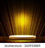 spotlight effect gold scene... | Shutterstock .eps vector #260933885
