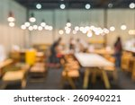 Stock photo coffee cafe blur background with bokeh 260940221