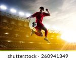soccer player in action on... | Shutterstock . vector #260941349