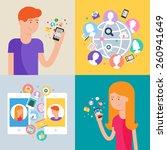 social network and social media ... | Shutterstock .eps vector #260941649