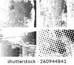 grunge halftone dots vector... | Shutterstock .eps vector #260944841