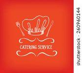 catering service  design logo.  | Shutterstock .eps vector #260960144