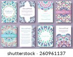 set of old fairy tail flyer... | Shutterstock .eps vector #260961137