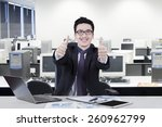 young entrepreneur showing... | Shutterstock . vector #260962799