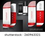 red leaf business card design | Shutterstock .eps vector #260963321