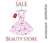 beautiful pink dress sale | Shutterstock .eps vector #260964524