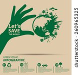 ecology concept. save world... | Shutterstock .eps vector #260965325