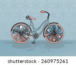 vector decorative bicycle on... | Shutterstock .eps vector #260975261