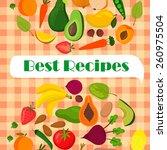 recipe template vector design... | Shutterstock .eps vector #260975504