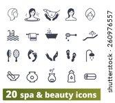 spa salon icons  vector set of... | Shutterstock .eps vector #260976557
