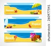 banner horizontal set of travel ... | Shutterstock .eps vector #260977541