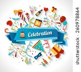 celebration background with... | Shutterstock .eps vector #260978864