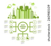 eco town infographic set with... | Shutterstock .eps vector #260980109