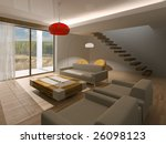 drawing room at day | Shutterstock . vector #26098123