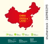 china map eco concept concept | Shutterstock .eps vector #260983295