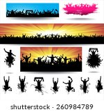 collection banners for sporting ... | Shutterstock .eps vector #260984789