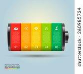 vector battery element for... | Shutterstock .eps vector #260985734