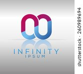 silver infinity logo template....   Shutterstock .eps vector #260989694